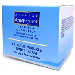 Ночной крем для лица от морщин для сухой и чувствительной кожи Mineral Beauty System